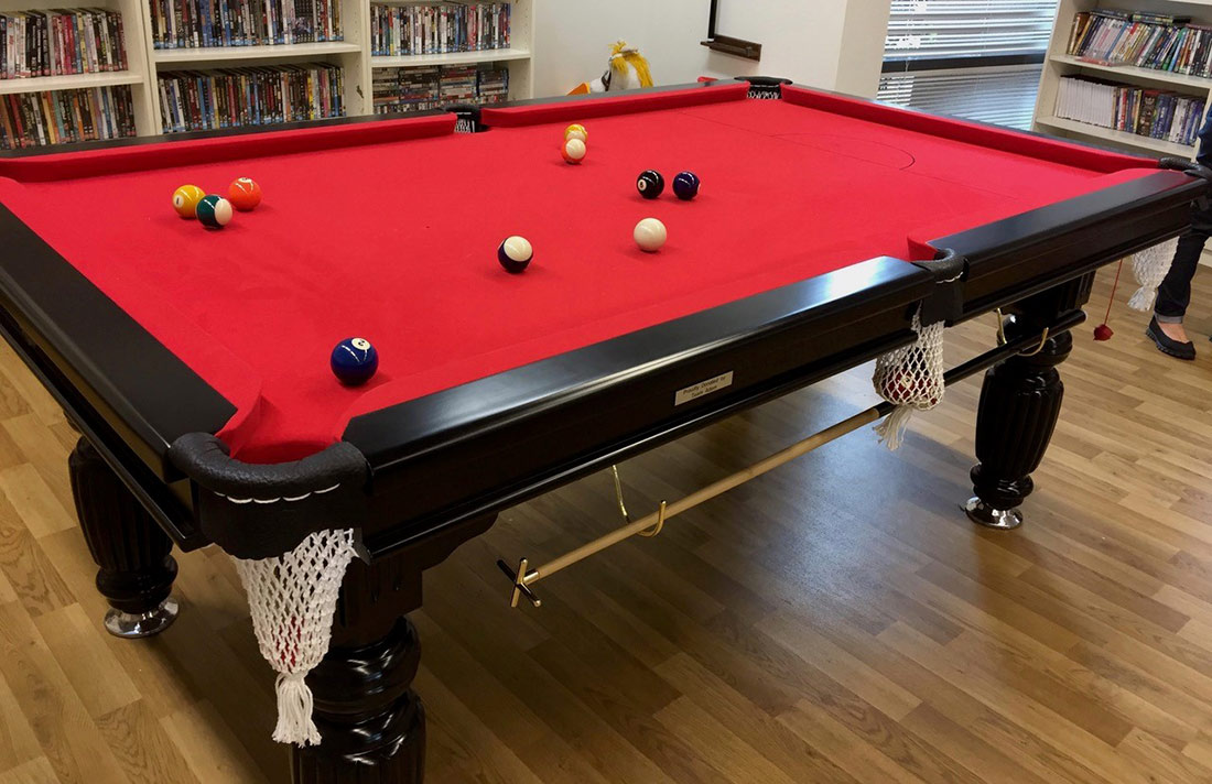 Team Adem Donates New Pool Table To Leukaemia Foundation Village - Red top pool table